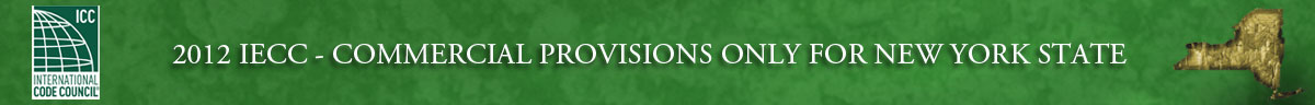 New York State International Energy Conservation Code Commercial Provisions Header Banner