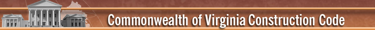 2009 Commonwealth of Virginia Construction Code Header Banner